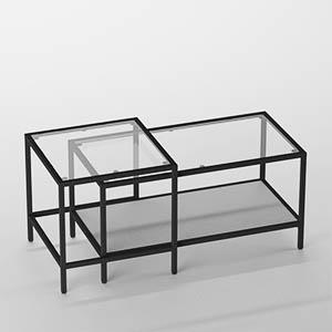 玻璃茶几桌子3D模型-0106Z1