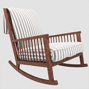 躺椅3D椅子模型-010404Y1