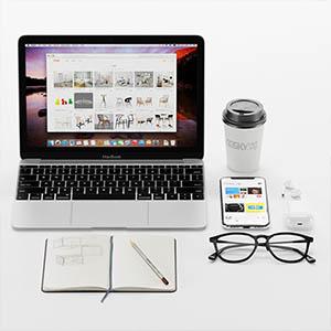 笔记本电脑笔记本手机眼镜3D模型-1901D1