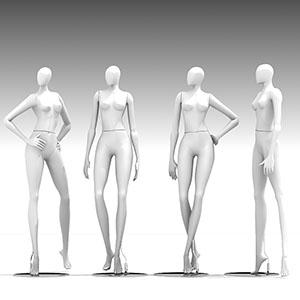 模特人物3D模型-0808R1