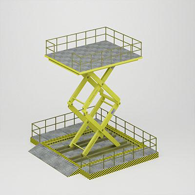 工业机械设备升降机3D模型-2101J1