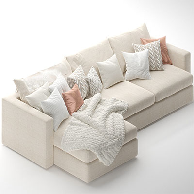 L型沙发3D模型-010205S1