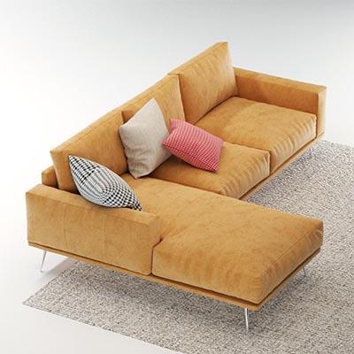 L型沙发3D模型-010203S4