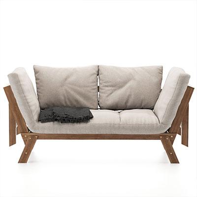 双人沙发3D模型-010202S3