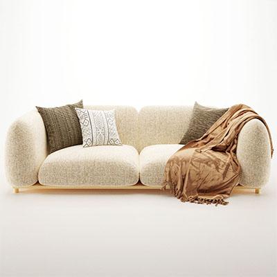 双人沙发3D模型-010202S2