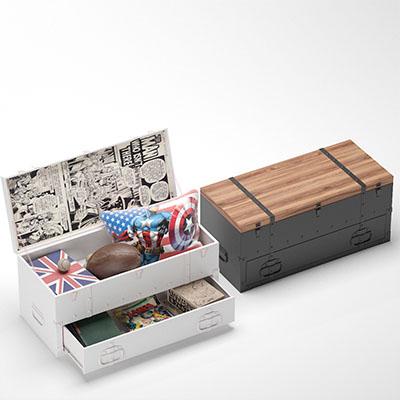 儿童家具橄榄球木箱3D模型-1406Z2