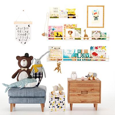 儿童家具玩具图书3D模型-1405E1