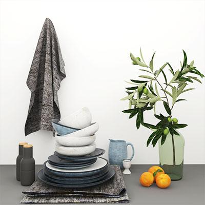 餐具厨房用品3D模型-0410C3