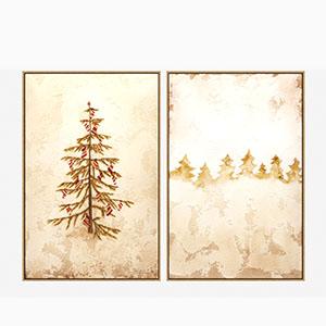 圣诞树画挂画3D模型-0317H11
