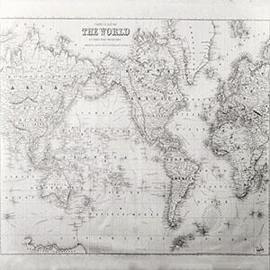 古老世界地图挂画3D模型-0317H2