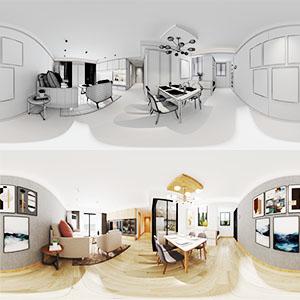 110平室内全景图3D模型-1801S1