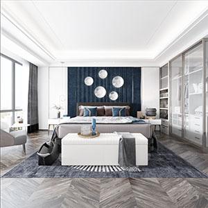 室内卧室3D模型-1501W1