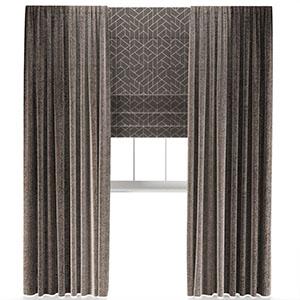 窗帘窗户3D模型_0302F1