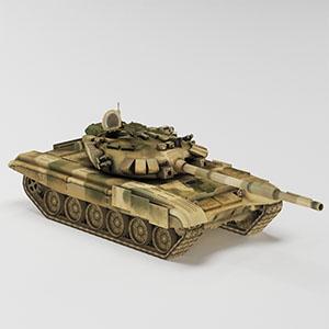 坦克简模3D模型-1101T1