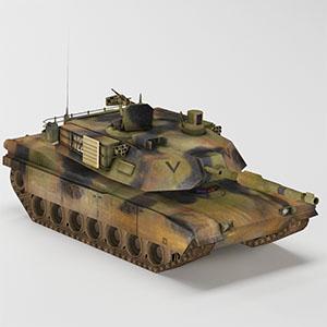 坦克简模3D模型-1101T2