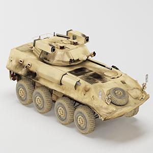 装甲突击车辆简模3D模型-1110C3