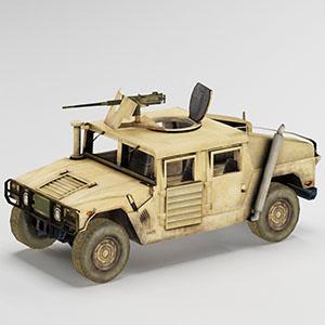 陆军车辆简模3D模型-1110C5