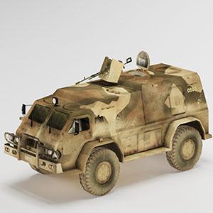 陆军车辆简模3D模型-1110C6