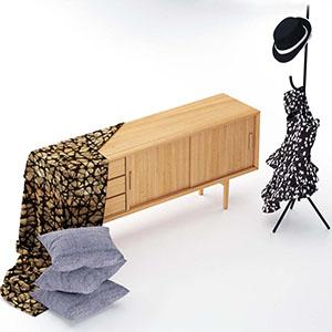 电视柜3D模型-0112D4