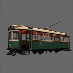 老式有轨电车3D模型-070201D1