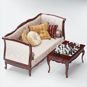 沙发国际象棋3D模型-010202S12