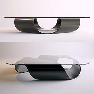 玻璃茶几3D模型-0106Z12