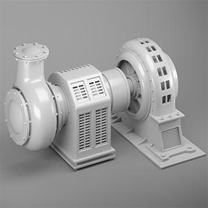 工厂器械电机3D模型-2102D1