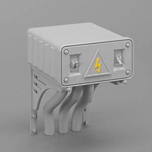 工厂配电箱3D模型-2102D2