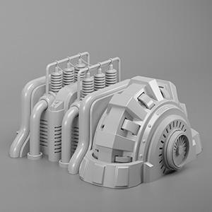 涡轮电机3D模型-2102D4
