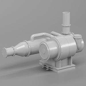 水泵电机3D模型-2102D6