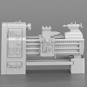 工厂器械车床设备3D模型-2102D13