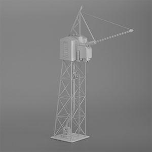 工厂塔架设备3D模型-2105D6
