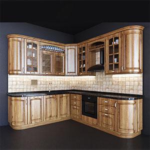 厨房橱柜组合3D模型-0412C2