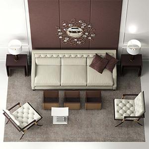 沙发茶几组合3D模型-010206S1