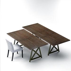 桌椅组合3D模型-0107ZY11