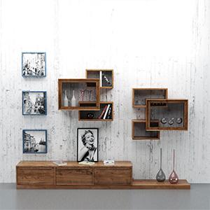柜子装饰画3D模型-0111Z4