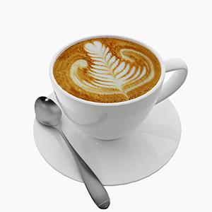 咖啡3D模型-0407Y1