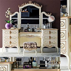 化妆柜组合3D模型-0111Z6