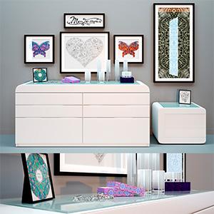 柜子装饰画3D模型-0111Z7