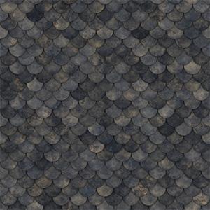 8K屋顶瓦圆形石头瓦贴图-020203W81
