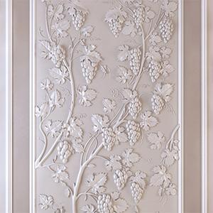葡萄型雕花装饰墙3D模型-0607D1