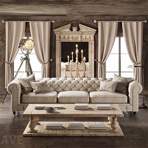 沙发3D模型-010202S20