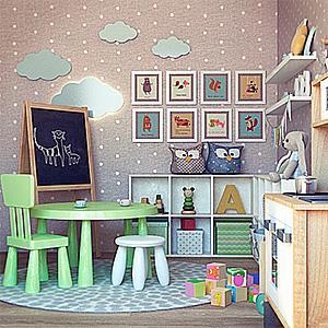 儿童装饰家具3D模型-1406Z3