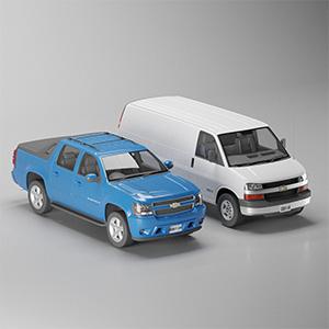 皮卡面包车3D模型-070301C4