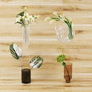 花瓶盆栽3D模型-1008F24