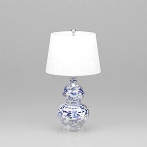 青花瓷台灯3D模型-0205T10