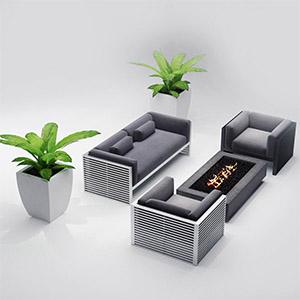 沙发茶几3D模型-010206S4
