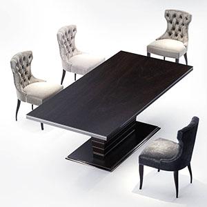 桌椅组合3D模型-0106Z19