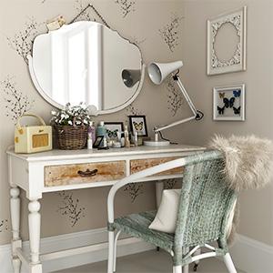 桌椅组合化妆台3D模型-0107ZY17