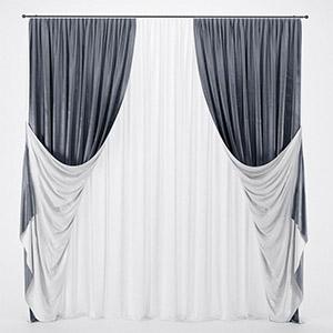 窗帘3D模型-0302F4